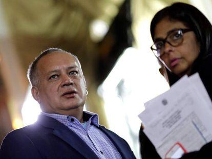 Diosdado Cabello y Delcy Rodríguez, el pasado 5 de agosto.