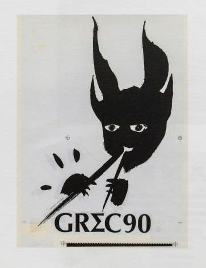 Logotipo de América Sánchez para el Festival Grec de 1990.