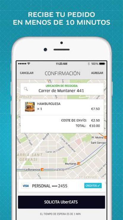 Uber Eats, el nuevo servicio de Uber.