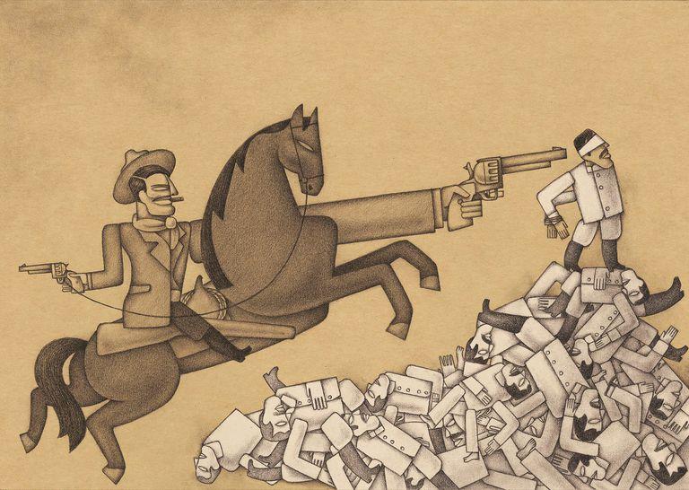 Ilustración de Alberto Gamón para 'México insurgente', de John Reed, coeditado por Nórdica Libros y Capitán Swing.