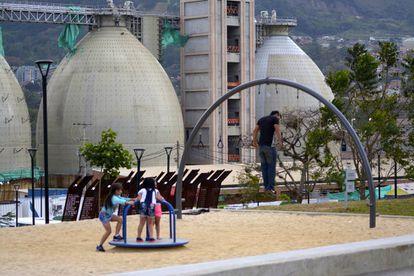 La UVA Aguas Claras es un parque que está prácticamente integrado con la depuradora.