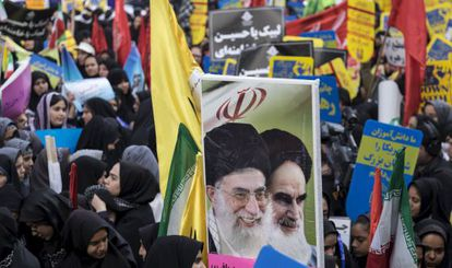 Una protesta frente a la antigua Embajada en noviembre