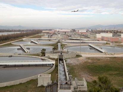 La planta depuradora del Baix Llobregat.