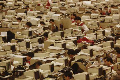 Oficina de Hong Kong en los años 90