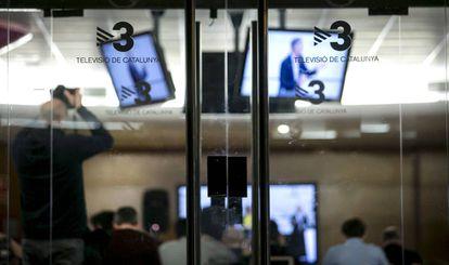 Imagen de una sala de los estudios de TV3 en Sant Joan Despí de Barcelona.