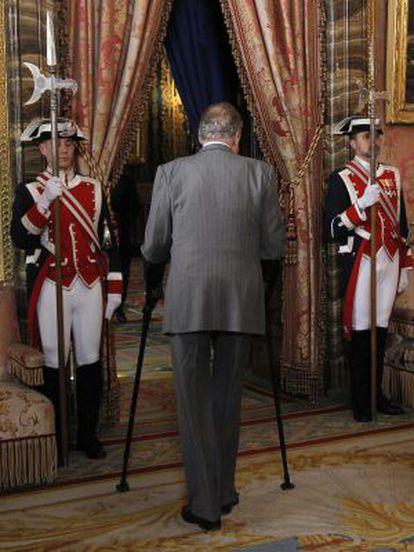 El Rey en el Placio Real en 2012
