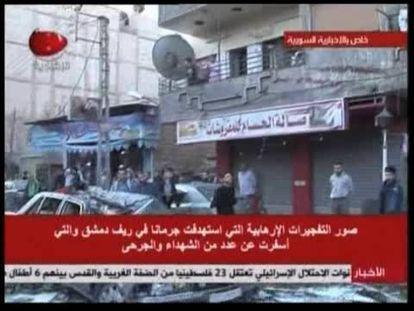 Decenas de muertos en un doble atentado con coche bomba en Damasco
