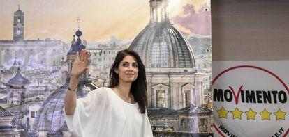 Virginia Raggi, alcaldesa de Roma, del Movimiento 5 Estrellas.