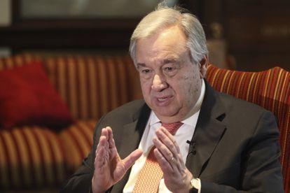 El secretario general de la ONU, António Guterres, el martes, en Lahore.