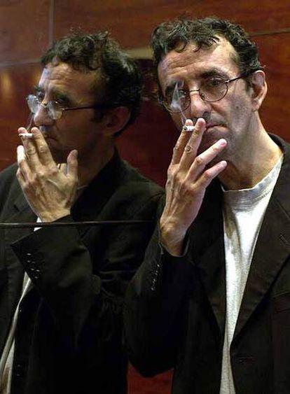 Roberto Bolaño, en Barcelona en 2002, un año antes de su muerte.