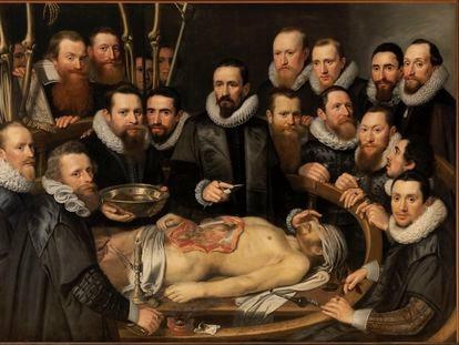 'La lección de anatomía del Dr. Willem Van der Meer', del pintor Michael Jansz Van Mierevelt (1617).