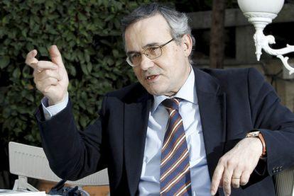 Antoni Gurguí, el viernes durante la entrevista en Madrid.