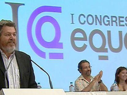 El recién elegido portavoz de la Comisión Federal de Equo, en la inauguración del I Congreso del partido.
