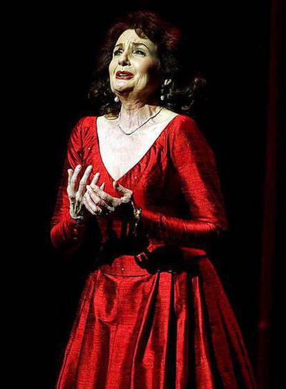 Inga Nielsen, durante una actuación hace tres años.