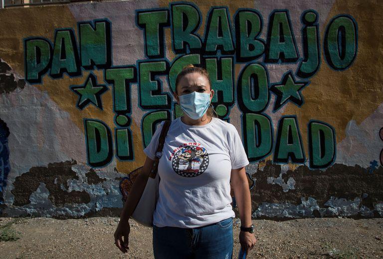 Ana Blandón, hermana de Eleazar Blandón, el temporero nicaragüense que murió de un golpe de calor el pasado sábado en Lorca (Murcia), el pasado jueves en Almería.