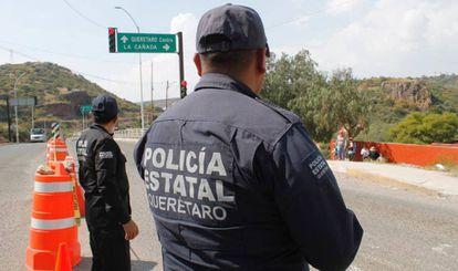 Policías del Estado de Queretaro, en México.
