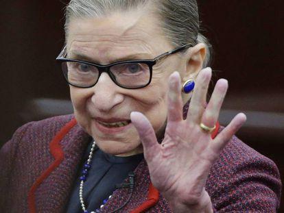 La juez del Tribunal Supremo de EE UU Ruth Bader Ginsburg.