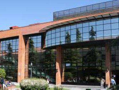 Fachada del campus de la Universidad Carlos III de Madrid.