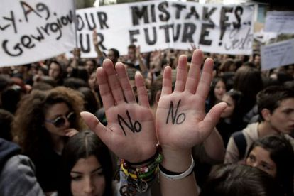 Protesta contra el plan de rescate en Chipre