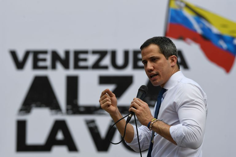 The opposition leader Juan Guaidó, during a rally in October last year.