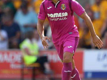 Santi Cazorla, durante un partido amistoso contra el Wolverhampton Wanderers el sábado.