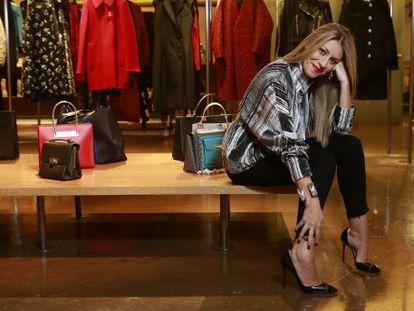 Cristina Reyes, estilista de famosos, posa en la tienda Ekseption de Madrid.