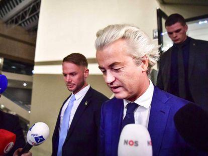 Geert Wilders, la noche del miércoles tras las elecciones.