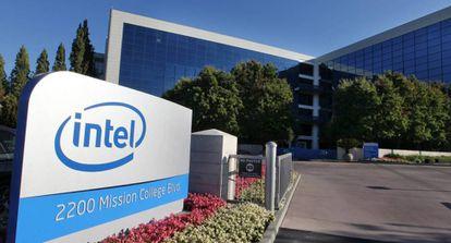 Vista de la sede de Intel en Santa Clara, California.