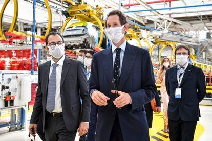 Visita de John Elkann a la mayor planta de Fiat, Mirafiori.