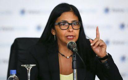 La canciller venezolana, Delcy Rodriguez
