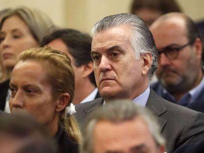 Luis Bárcenas, en el juicio celebrado, en 2017, en la Audiencia Nacional por la primera época de la trama Gürtel.