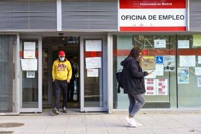 Oficina de empleo en Alcorcón, Madrid.