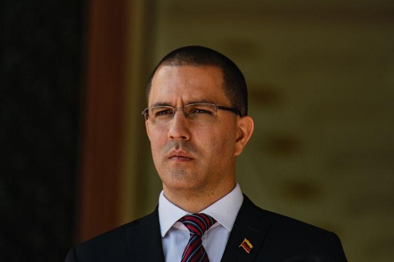 El canciller venezolano, Jorge Arreaza, en Caracas, el pasado febrero.