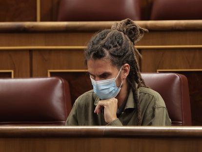 Alberto Rodríguez en una sesión plenaria en el Congreso de los Diputados, el pasado 14 de octubre, en Madrid, (España).