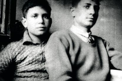 Jorge Semprún, de adolescente, con su hermano Gonzalo.