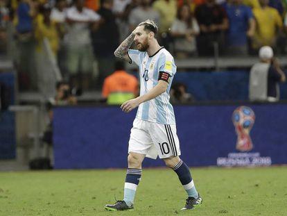 Messi, tras la derrota de Argentina ante Brasil.
