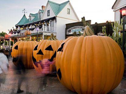 Calabazas de Halloween en Port Aventura en una imagen de archivo.