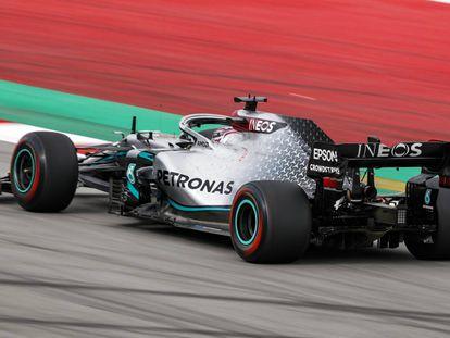 El Mercedes AMG F1 GP W11 de Hamilton, en Montmeló.
