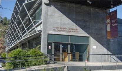 Fachada del Edificio Jaume Casademont, de la Universitat de Girona.