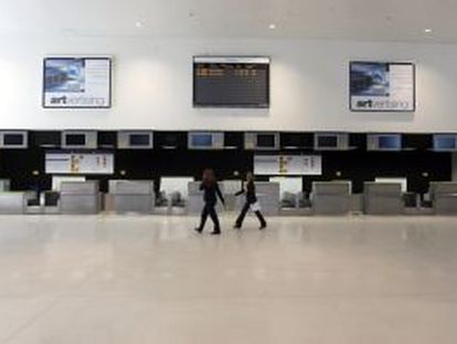Sala de facturación de la terminal del aeropuerto de Ciudad Real.