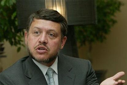 El rey Abdalá II de Jordania, en un momento de la entrevista.