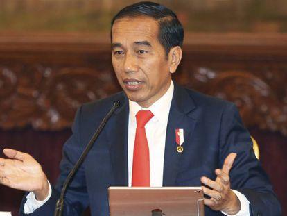 El presidente indonesio, Joko Widodo, este lunes en el Jakarta.
