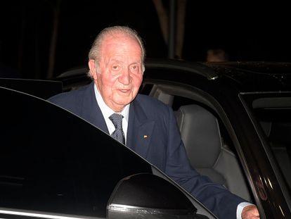 Juan Carlos I, en una de sus últimas apariciones públicas, el 18 de febrero en Madrid.