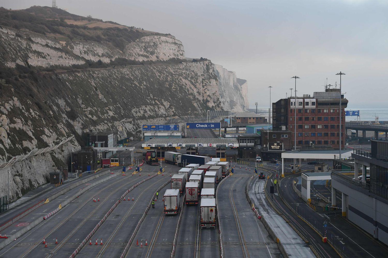 Varios camiones, en el puerto de Dover el 31 de diciembre.