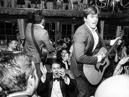 Didier Casnati, líder de los Gypsy Queens, dejándose el alma ante un público selecto.