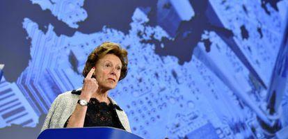 La vicepresidenta de la Comisión Europea, Neelie Kroes.