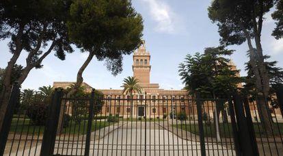 Fachada de la Universidad Cardenal Herrera-CEU en Moncada (Valencia).