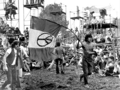 Imagen del festival de Avándaro, 1971.