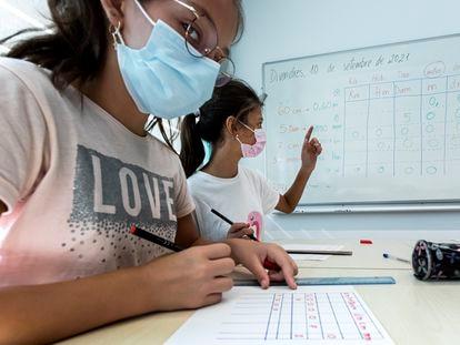 Clase de Matemáticas en el instituto público Les Arts de Valencia, el pasado septiembre.