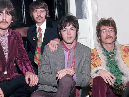 George Harrison, Ringo Starr, Paul McCartney y John Lennon: The Beatles en 1967.